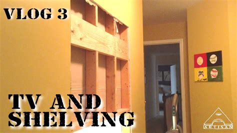 Installing A Wall Mounted Tv And Shelving Unit