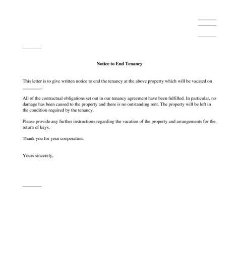 tenancy letter  tenant  landlord uk