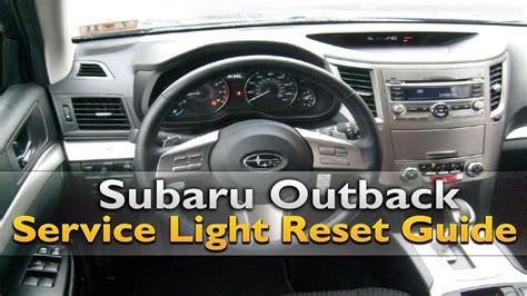 subaru outback service light reset