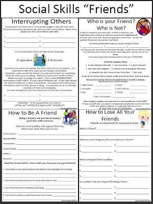 worksheet social skills worksheets hunterhq