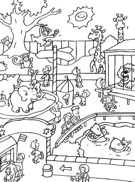 Coloring Zoo Animals by Zoo Animals Coloring Pages Best Coloring Pages For