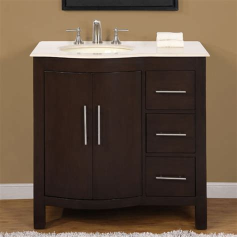 modern single bathroom vanity  cream marfil