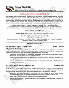 teacher resume english teacher resume sample teacher With education resume