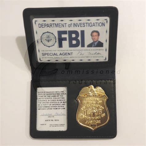 bureau authentic style fbi wallet commissioned credentials