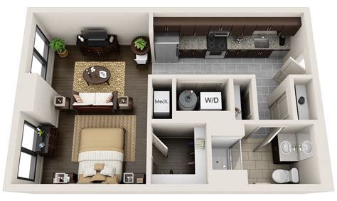 two bedroom home plans 3dplans com