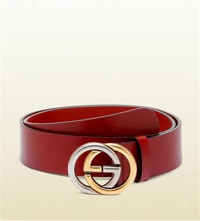 Belt Buckle Gucci Interlocking Bicolor Bordeaux Lyst