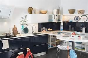 Bleu De Travail Castorama : 10 cr dences qui habillent les murs de la cuisine darty ~ Dailycaller-alerts.com Idées de Décoration