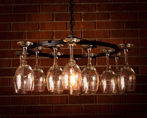 wine glass chandelier pendant style light lighting wine