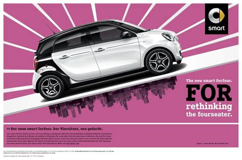 smart forfour werbung internationale produktkagnen zum smart fortwo forfour