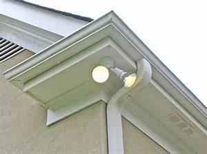 Inspirational eave mount flood light in modern