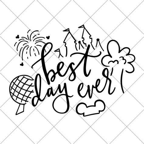 This is not about actual vacations to disneyland or disneyworld. Best Day Ever - Disney Parks Vacation SVG - DIY Vacation ...