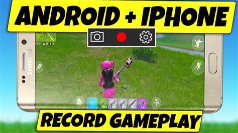 record fortnite mobile  android  iphone youtube