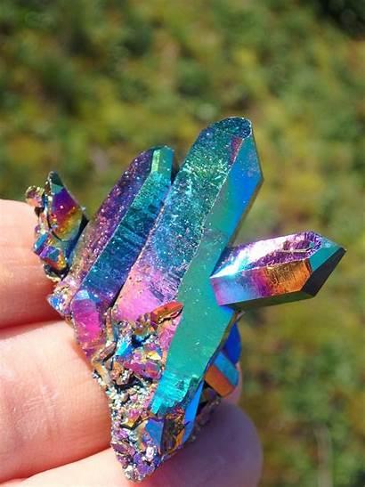 Titanium Quartz Cluster Rainbows Crystals
