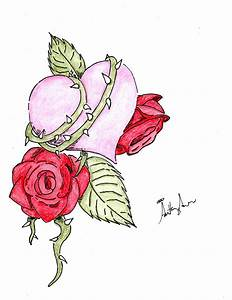 How To Draw A Heart With A Rose Through It - ClipArt Best ...