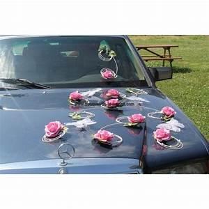 Decoration Voiture Mariage : d coration voiture mariage mari es couleur rose tendre et blanc th me papillons ~ Preciouscoupons.com Idées de Décoration