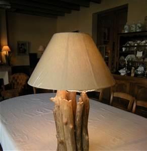 Lampe Chevet Bois Flotté : lampe de chevet design en bois flott lampes d coratives en bois flott bois du lot ~ Teatrodelosmanantiales.com Idées de Décoration