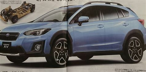 Subaru In Japanese by 2017 Subaru Xv Leaked In Japanese Media