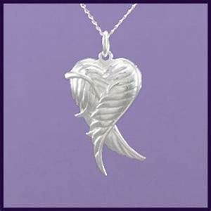 Angel Wing Heart Locket with Angel Wings Wrapped around Heart