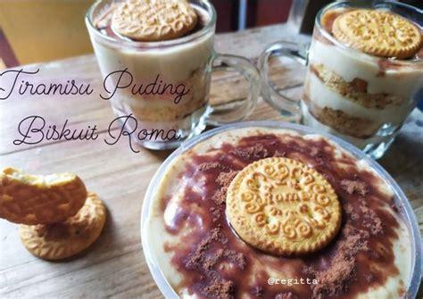 Campur tepung beras ketan yang sudah diayak, gula dan garam. Resep Tiramisu Puding Biskuit Roma oleh Regitta - Cookpad