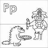 Coloring Pages Alphabet Letter Parrot Pirate Pizza Pig Letters Porcupine Leg Print Patch Peg Coloringpages4u Coloringpages Preschool Kitty Hello Crafts sketch template
