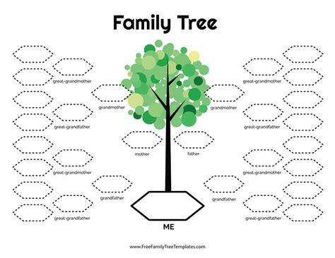 generation family tree template  family tree templates