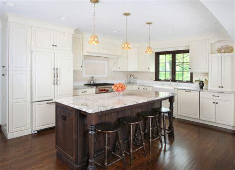 alpine white granite kitchen traditional  cabinets