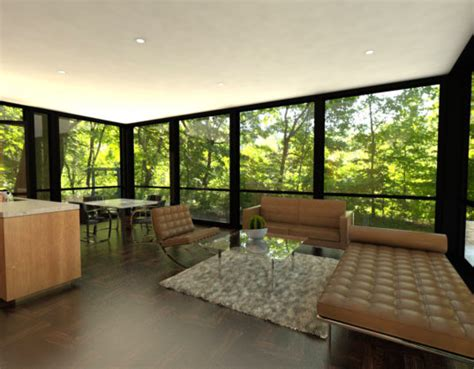 prefab glass house lets  bring home  spirit