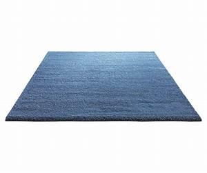 tapis shaggy en polyester et laine bleu clair wool glamour With tapis laine bleu