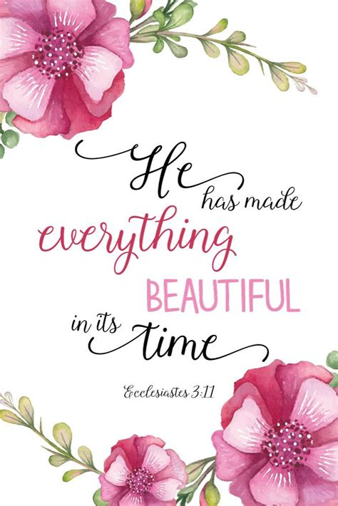30 bible verses about wisdom: $5.00 Bible Verse Print -He has made everything beautiful in its time Ecclesiastes 3:11 In ...