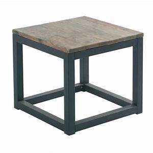 Table Bois Et Fer : table basse bois chalet ~ Teatrodelosmanantiales.com Idées de Décoration