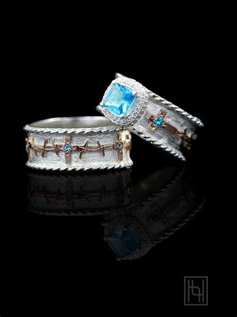 ring set custom rings  hyo silver