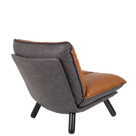 fauteuil lounge simili cuir lazy sack zuiver