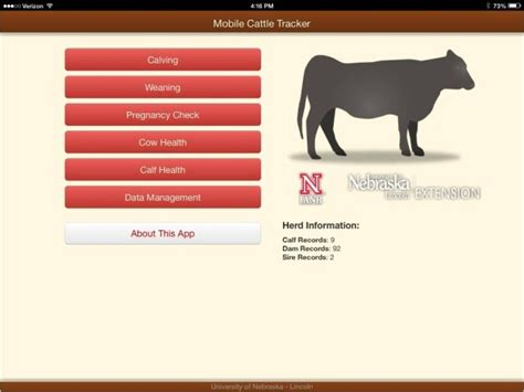 mobile cattle tracker   calf producers announce