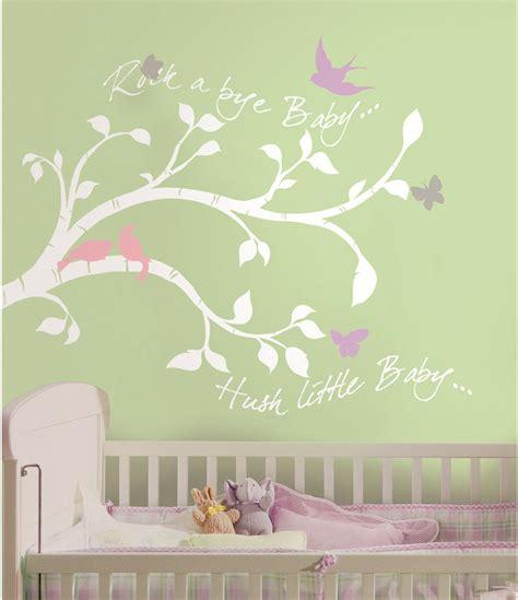 Wandtattoo Kinderzimmer Baby by Roommates Wandsticker Rock A Bye Baby Zweige Kinderzimmer