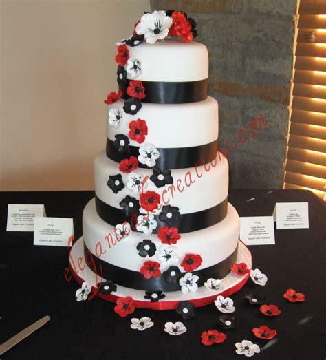 Black White And Red Wedding Cake White Chocolate
