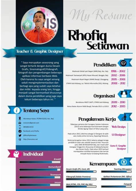 format resume yang baru contoh daftar riwayat hidup yang menarik cv