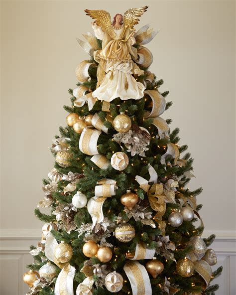 white tree with gold decorations silver and gold tree tree decorating