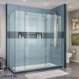 assembled kitchen cabinets dreamline enigma 36 in by 72 1 2 in fully frameless 4196