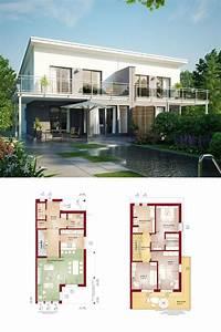 Modernes Haus Grundriss : modernes doppelhaus mit pultdach grundriss haus ~ Lizthompson.info Haus und Dekorationen