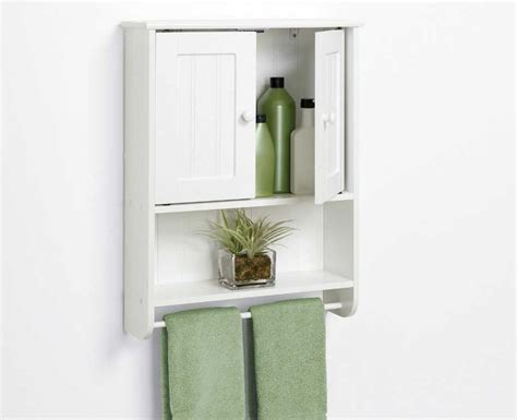 Bathroom Wall Cabinets And Shelves In White Color Ideas