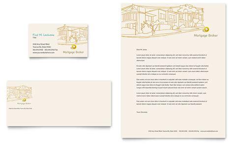 Mortgage Broker Business Card & Letterhead Template