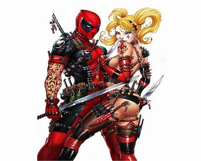 Deadpool Quinn Harley Merc Wallpapers Comics Pantalla