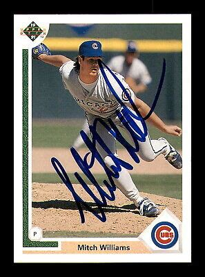 mitch williams autographed signed  upper deck card