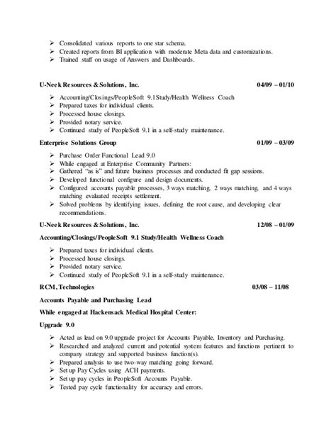 100 peoplesoft functional resume peoplesoft resume