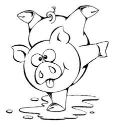 Learning Friends Pig baby animal coloring printable from