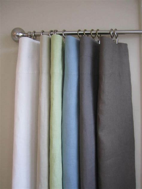 window curtains drapes urbanest indoor 100 linen solid window curtain drapes 2