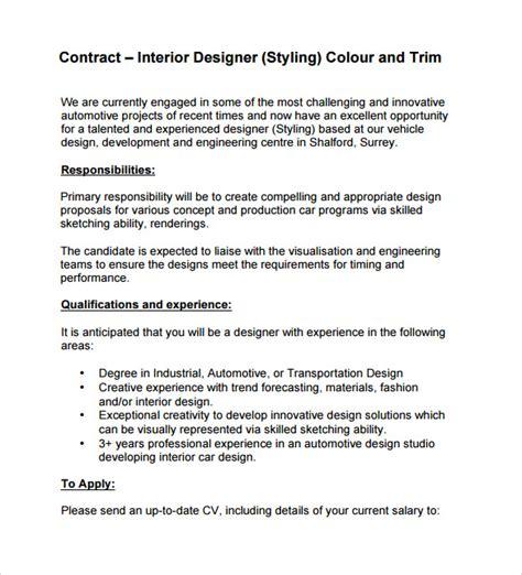 interior design contract templates   ms