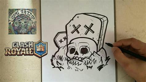 como dibujar el cementerio clash royale   draw