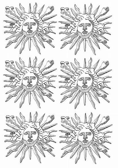 Louis Xiv Soleil King Sun Roi Coloring