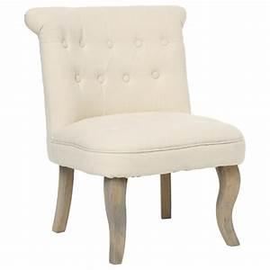 Fauteuil Crapaud Beige : fauteuil crapaud calixte lin beige ~ Teatrodelosmanantiales.com Idées de Décoration